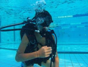 Baptême en piscine avec le CSE